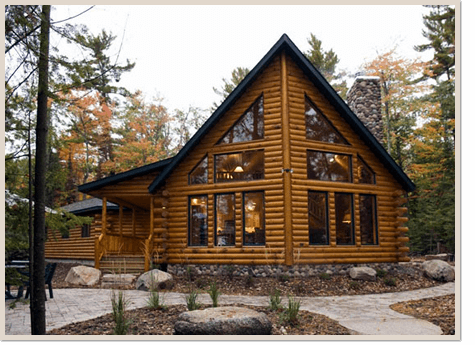 Log home repairs michigan mi log cabin maintenance services for Building a house in wisconsin